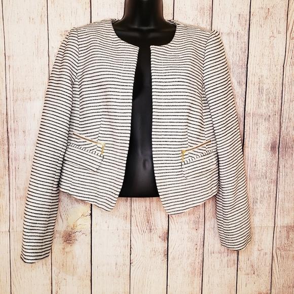 LOFT Jackets & Blazers - Ann Taylor Loft white and black blazer jacket